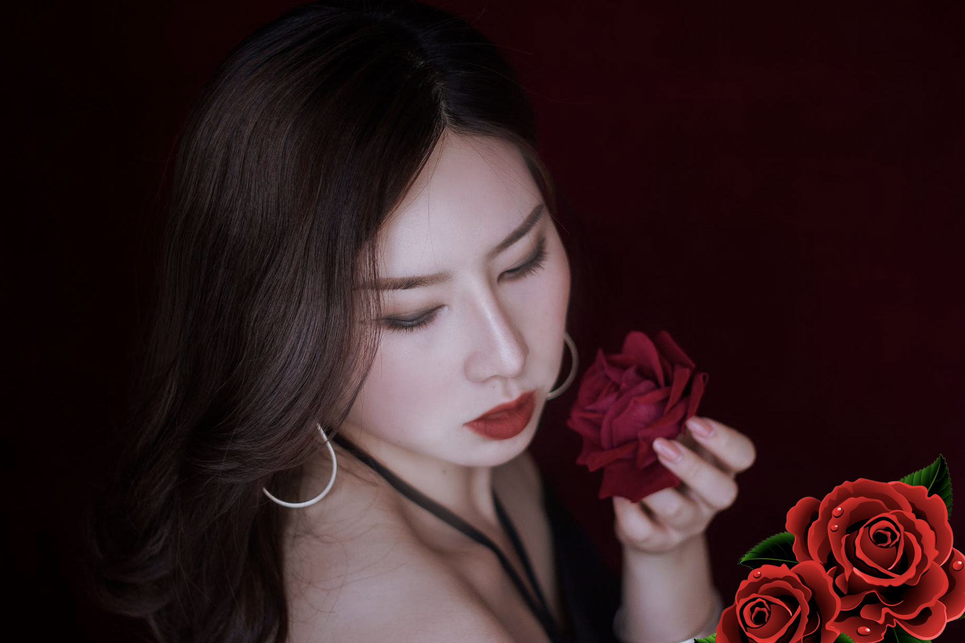 rose for glowing skin