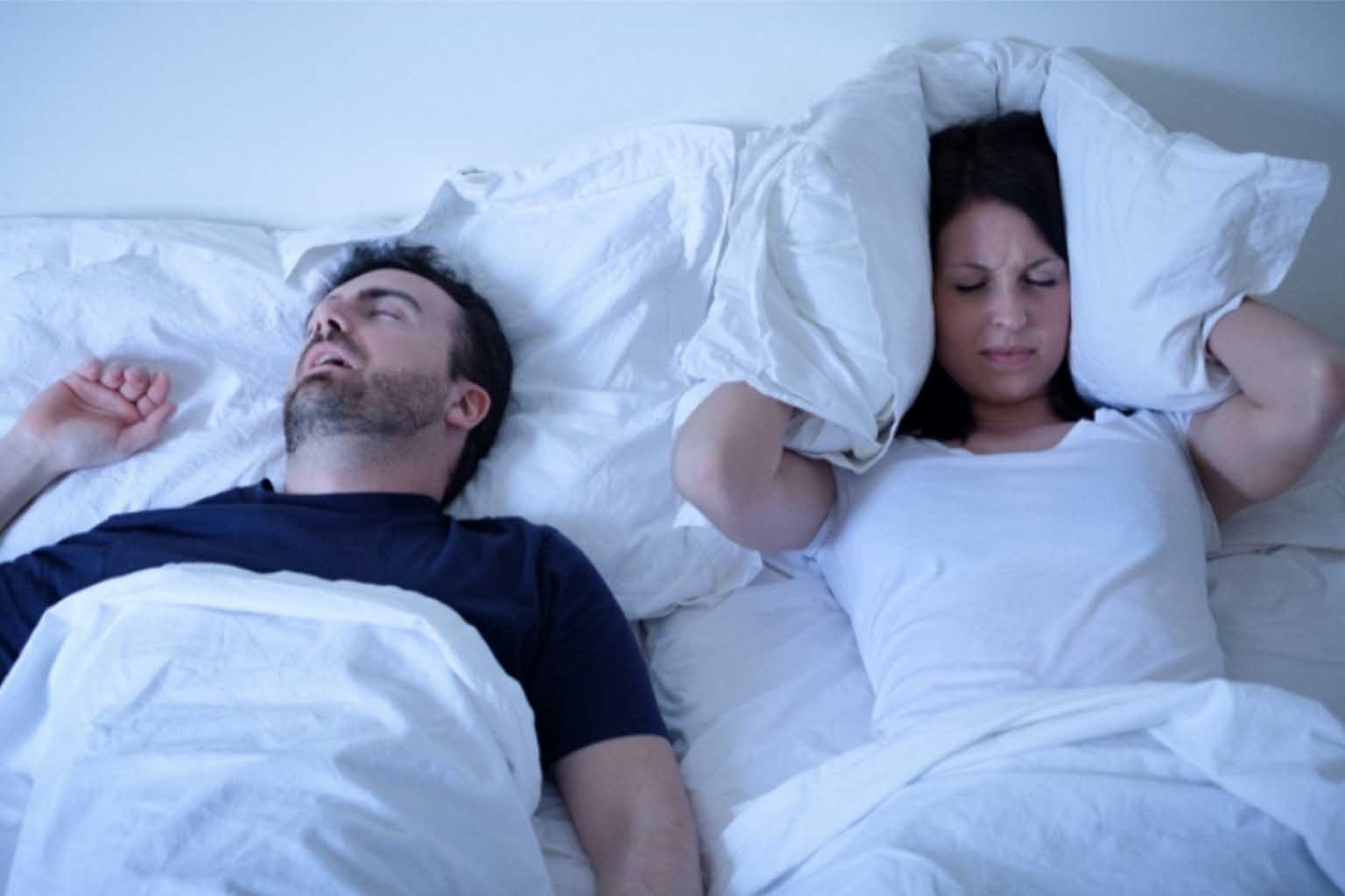 trouble sleeping with partner