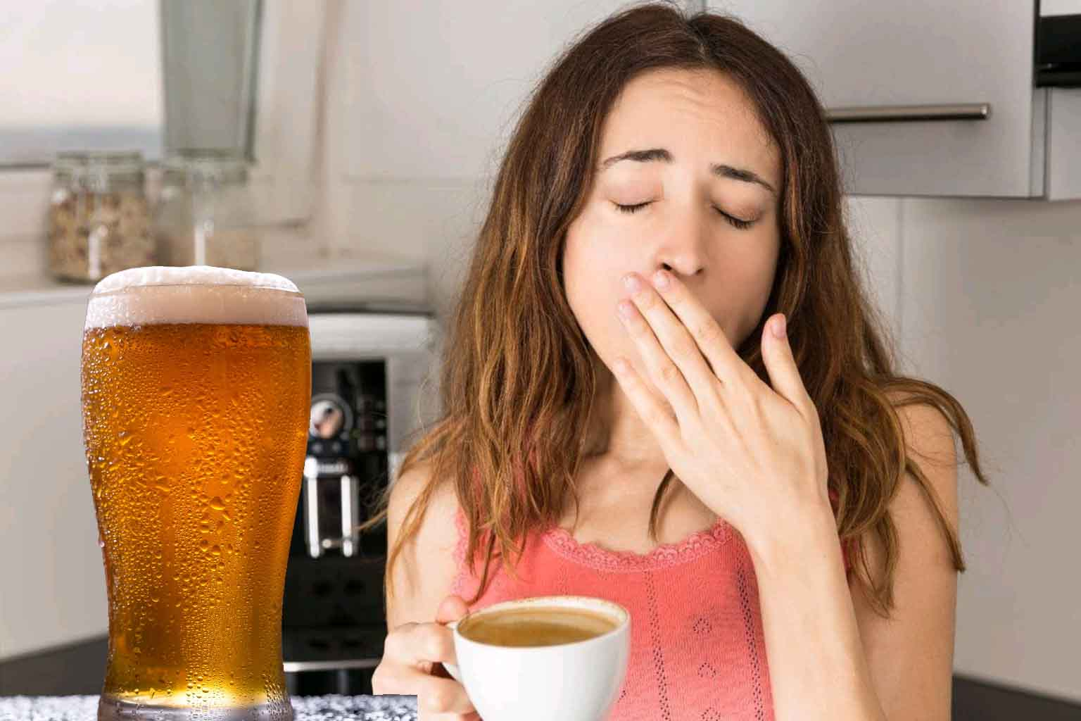 say no to beer ice tea coke or 7up on empty stomach