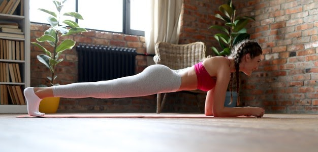 Calories are burned in a plank